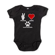 Peace Love Labradoodle Baby Bodysuit