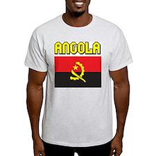 Angola Flag Ash Grey T-Shirt