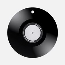 Vinyl Record Ornament (Round)