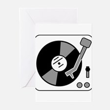 Vintage Record Player Greeting Cards