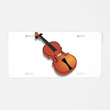 Violin Aluminum License Plate