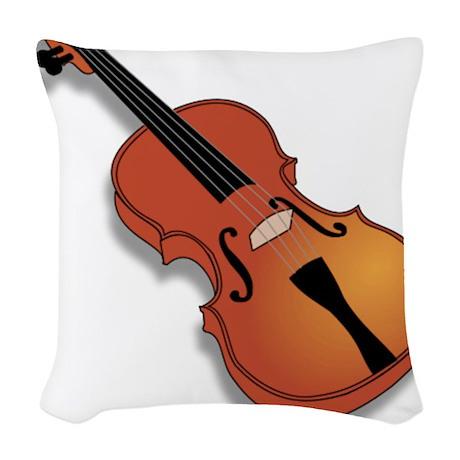 Violin Woven Throw Pillow