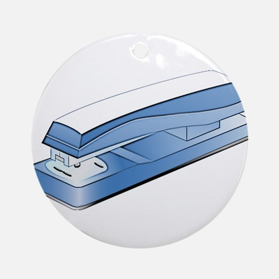Office Stapler Ornament (Round)