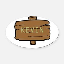 NAME, selectable Text Oval Car Magnet