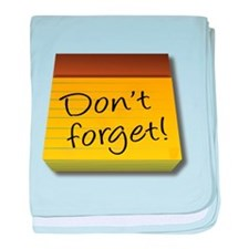 Dont Forget Notepad baby blanket