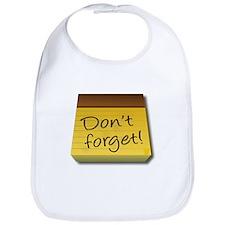 Dont Forget Notepad Bib