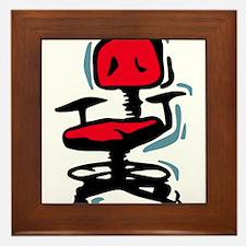 Red Office Chair Framed Tile