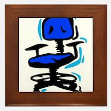 Blue Office Chair Framed Tile