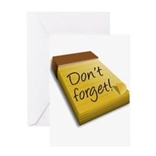 Dont Forget Notepad Greeting Cards