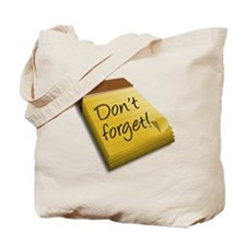 Dont Forget Notepad Tote Bag