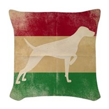 Cushion - Vizsla On Aged Hungarian Flag