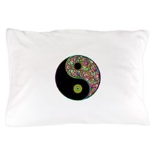 Yin Yang Symbol Psychedelic Colors Pillow Case