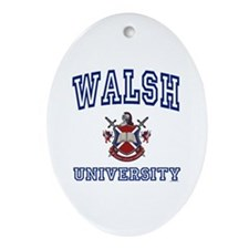 WALSH University Oval Ornament