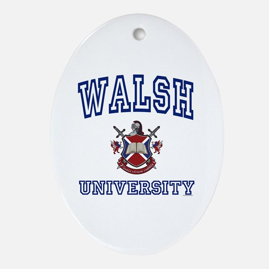 WALSH University Oval Ornament
