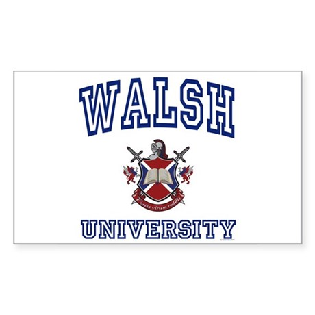 WALSH University Rectangle Sticker