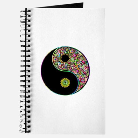 Yin Yang Symbol Psychedelic Colors Journal