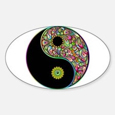 Yin Yang Symbol Psychedelic Colors Decal