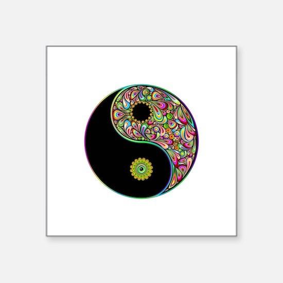 Yin Yang Symbol Psychedelic Colors Sticker