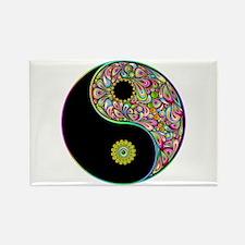 Yin Yang Symbol Psychedelic Colors Magnets