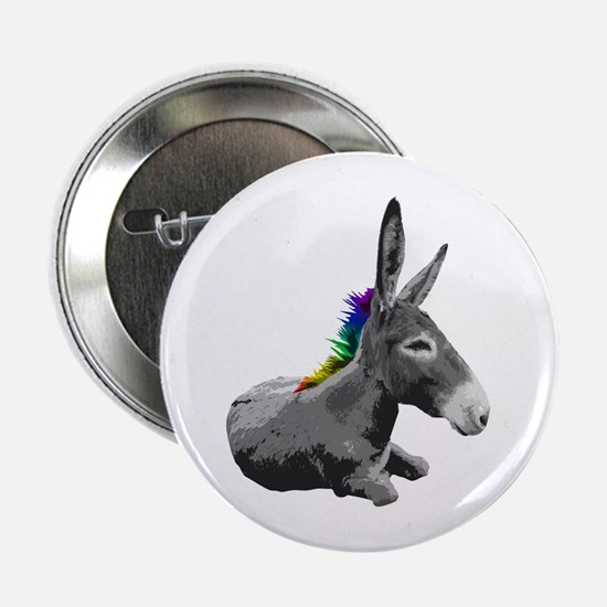 Rainbow Democrat Button