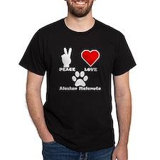 Peace Love Alaskan Malamute T-Shirt