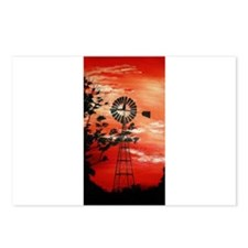 blazing sunset Postcards (Package of 8)