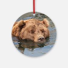 Bear004 Round Ornament