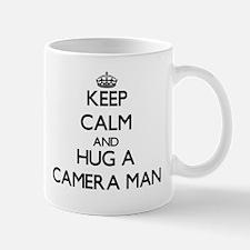 Keep Calm and Hug a Camera Man Mugs