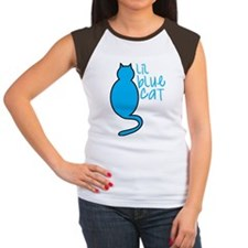 Lil blue cat Women's Cap Sleeve T-Shirt