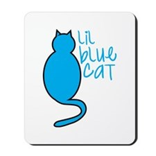 Lil blue cat Mousepad