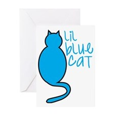 Lil blue cat Greeting Card