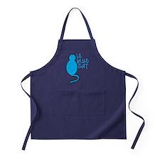 Lil blue cat Apron (dark)