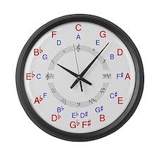 Circle of 5ths Clock Face Large Wall Clock