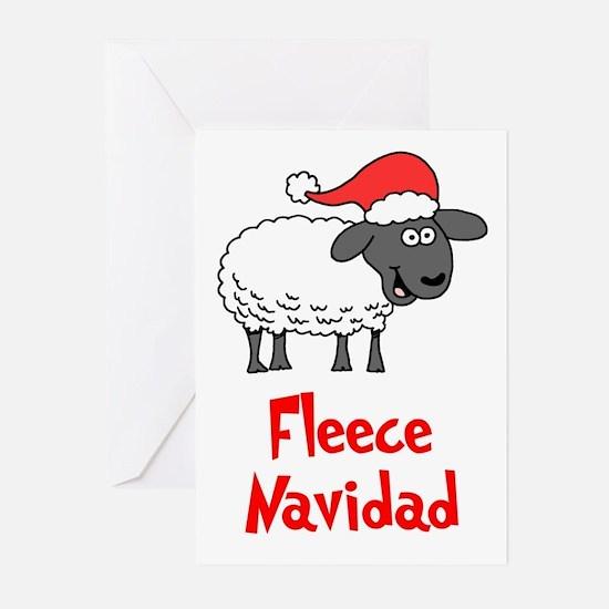 Fleece Navidad Greeting Cards (Pk Of 20)