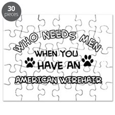 Cool American wirehair designs Puzzle