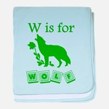 W Is For Wolf baby blanket