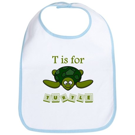 T Is For Turtle Bib
