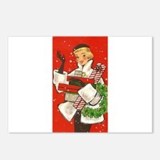 Vintage lady shoppping Postcards (Package of 8)