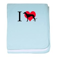 I Love Galgos baby blanket