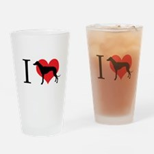 I Love Galgos Drinking Glass