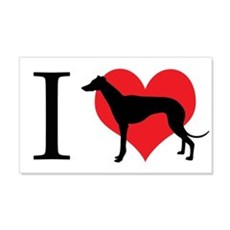 I Love Galgos Wall Decal