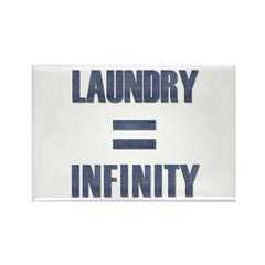Laundry = Infinity Rectangle Magnet (10 pack)