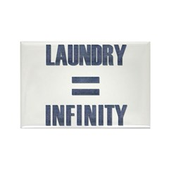 Laundry = Infinity Rectangle Magnet