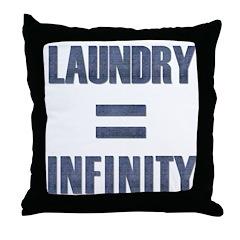 Laundry = Infinity Throw Pillow