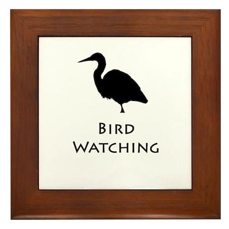 Bird Watching - Heron Silhoue Framed Tile