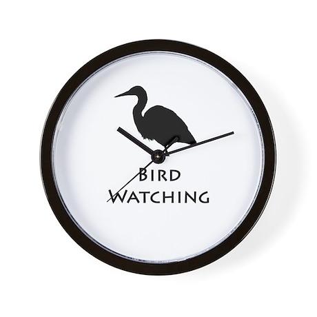 Bird Watching - Heron Silhoue Wall Clock