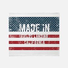 Made in Fields Landing, California Throw Blanket
