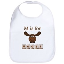 M Is For Moose Bib