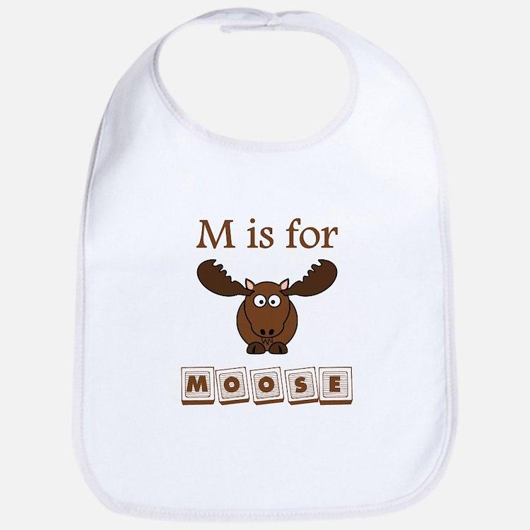 M Is For Moose Bib