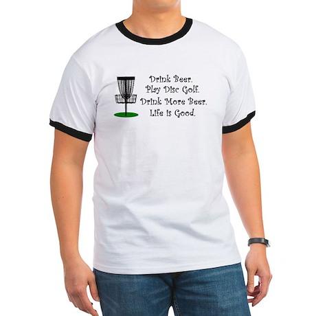 Drink Beer Play Disc Golf Ringer T